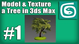 3ds Max Tree Tutorial - #1 - How to model and unwrap the tree trunk