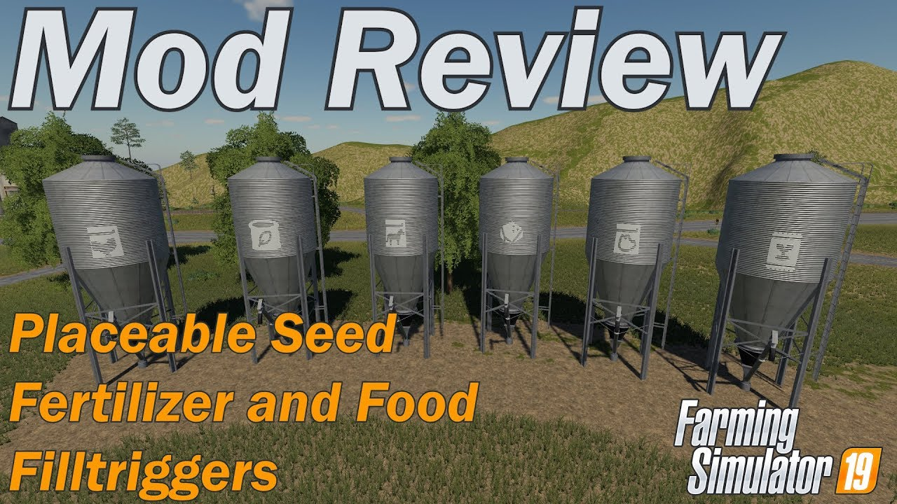 Farming Simulator 19 - Mod Review - Placeable Seed Fertilizer and Food  Stations