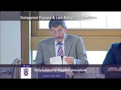 Delegated Powers and Law Reform Committee - Scottish Parliament: 18 June 2013
