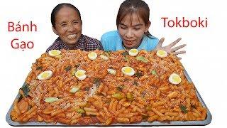 Bà Tân Vlog - Làm Bánh Gạo Tokbokki Hàn Quốc Siêu Cay Khổng Lồ | Giant Tokbokki Mukbang