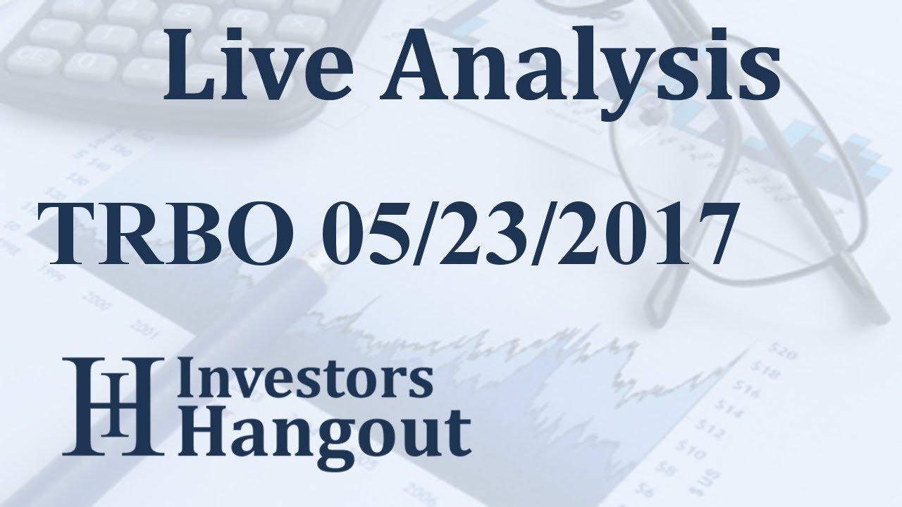 Trbo Stock Live Analysis 05 23 2017 Youtube