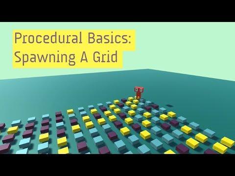 Procedural Generation Basics: Spawn A Grid In Unity - gamedev