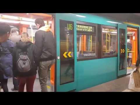 [움직이는풍경]독일 프랑크푸르트 지하철 6호선 7호선 Frankfurt U-Bahn Line6 Line7 Zoo-Hauptwache RMV