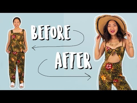 DIY Cut-Out Jumpsuit | Thrifted Transformations - YouTube