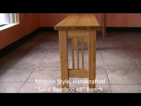 Handcrafted Solid Bamboo Bench