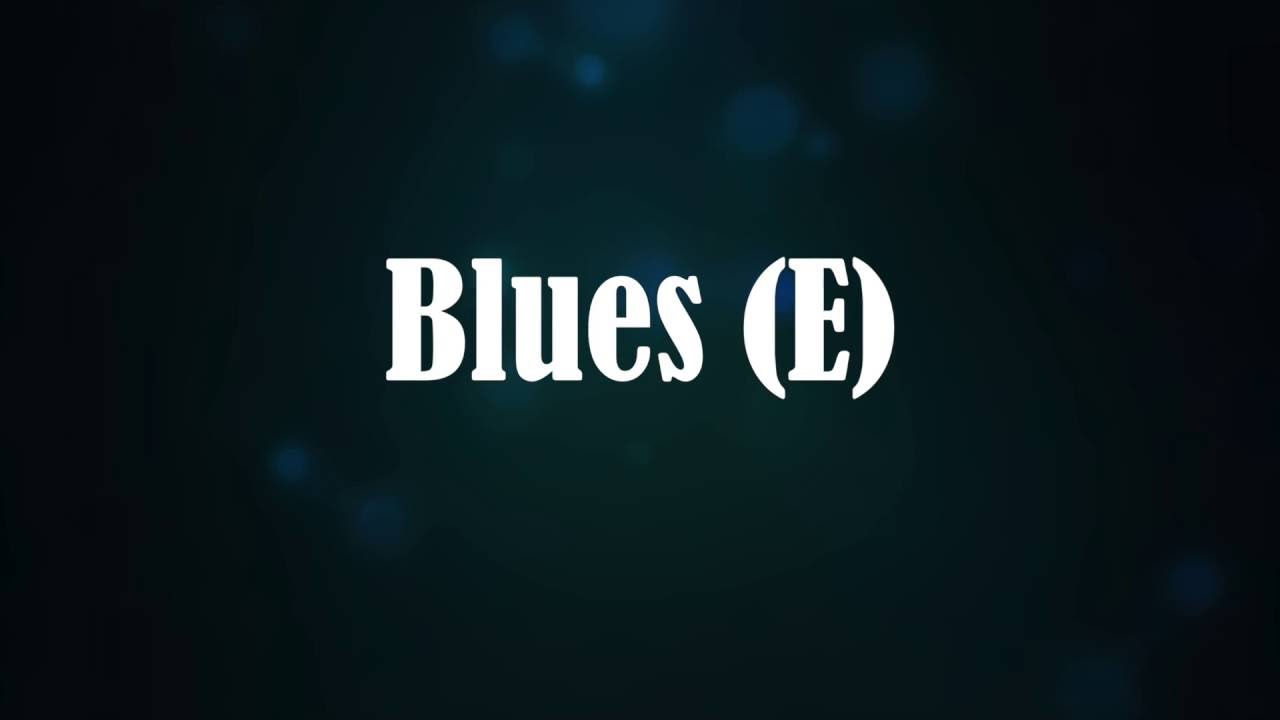 Blues Backing Track in E