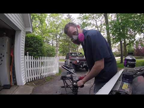 Jeep Cherokee XJ bumper removal and repair