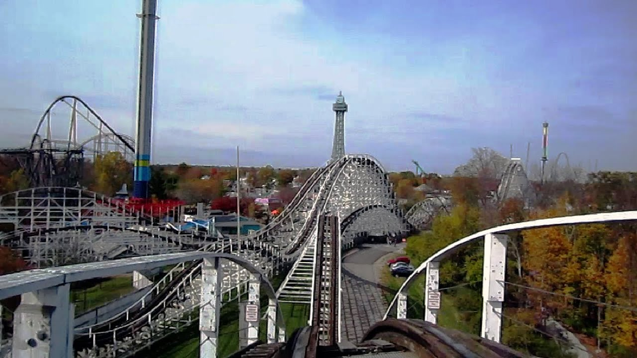 Racer Blue Side Front Seat On Ride Hd Pov Kings Island
