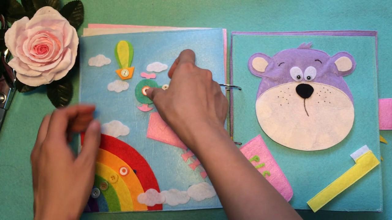 đồ handmade vải dạ nỉ – sách vải cho bé – đồ chơi thông minh không thể thiếu cho trẻ em