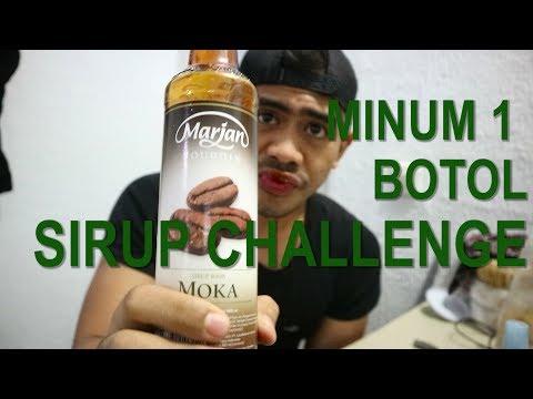 MINUM 1 BOTOL SIRUP MARJAN CHALLENGE!!!