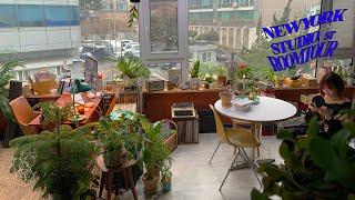 14평 원룸 뉴욕 스튜디오 재질로 꾸미기 컬러풀 인테리…