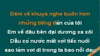 Lien Khuc Tinh Khuc Vang Karaoke - Đan Trường - CaoCuongPro