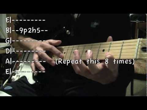 Eruption Lesson: pt. 1 Finger-tapping solo (with tabs)