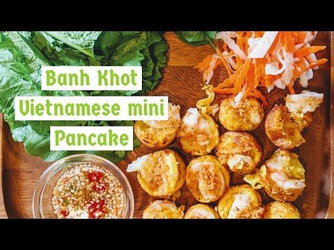 Vietnamese Savory Mini Pancakes (Banh Khot)