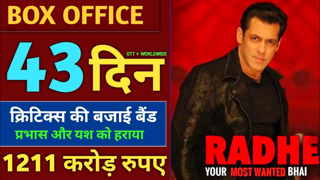 Radhe Box Office Collection, Hit Or Flop, Radhe 43 Day Collection, Radhe 42 Day Collection