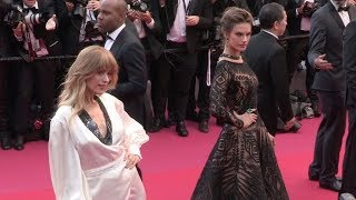 Alessandra Ambrosio and Petra Nemcova on the red carpet for the Premiere of Blackkklansman in Cannes