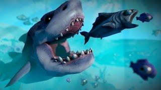 ЖРИ ИЛИ СОЖРУТ ТЕБЯ! 3D ВЕРСИЯ СЛИЗЕРИО НОВАЯ ИГРА FISH FEED AND GROW