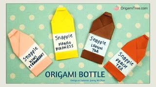 Origami Bottle | Snapple Inspired | Easy Paper Crafts for Kids | Summer Crafts