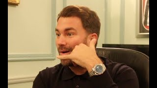 EPIC! - EDDIE HEARN RIPS INTO JOE PARKER & HIGGINS w/ HILARIOUS RESPONSE TO BROOM CUPBOARD PRESSER