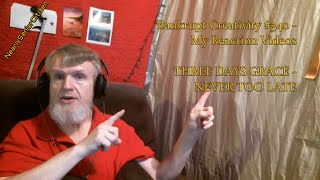 THREE DAYS GRACE  NEVER TOO LATE  Bankrupt Creativity 340  My Reaction Videos
