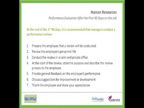 How To Evaluate Employees' Performance After 90 Days On Job - Youtube