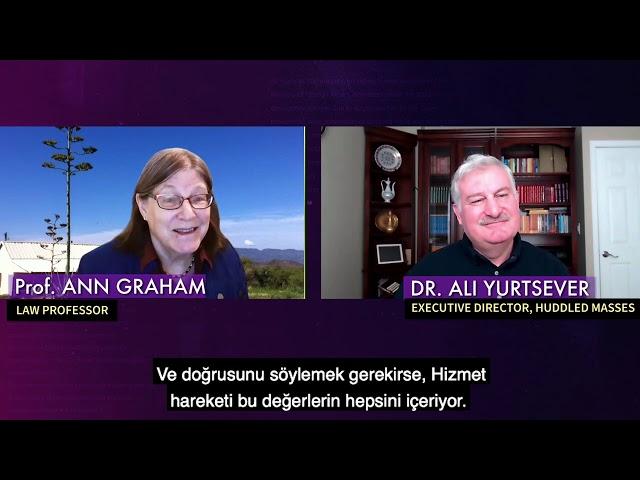 Broken Lives; Dr. Ann Graham, Law Professor, talked about her journey in Hizmet movement.