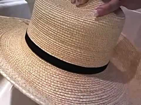 d42470daf25be How to shape a palm leaf hat.wmv - YouTube