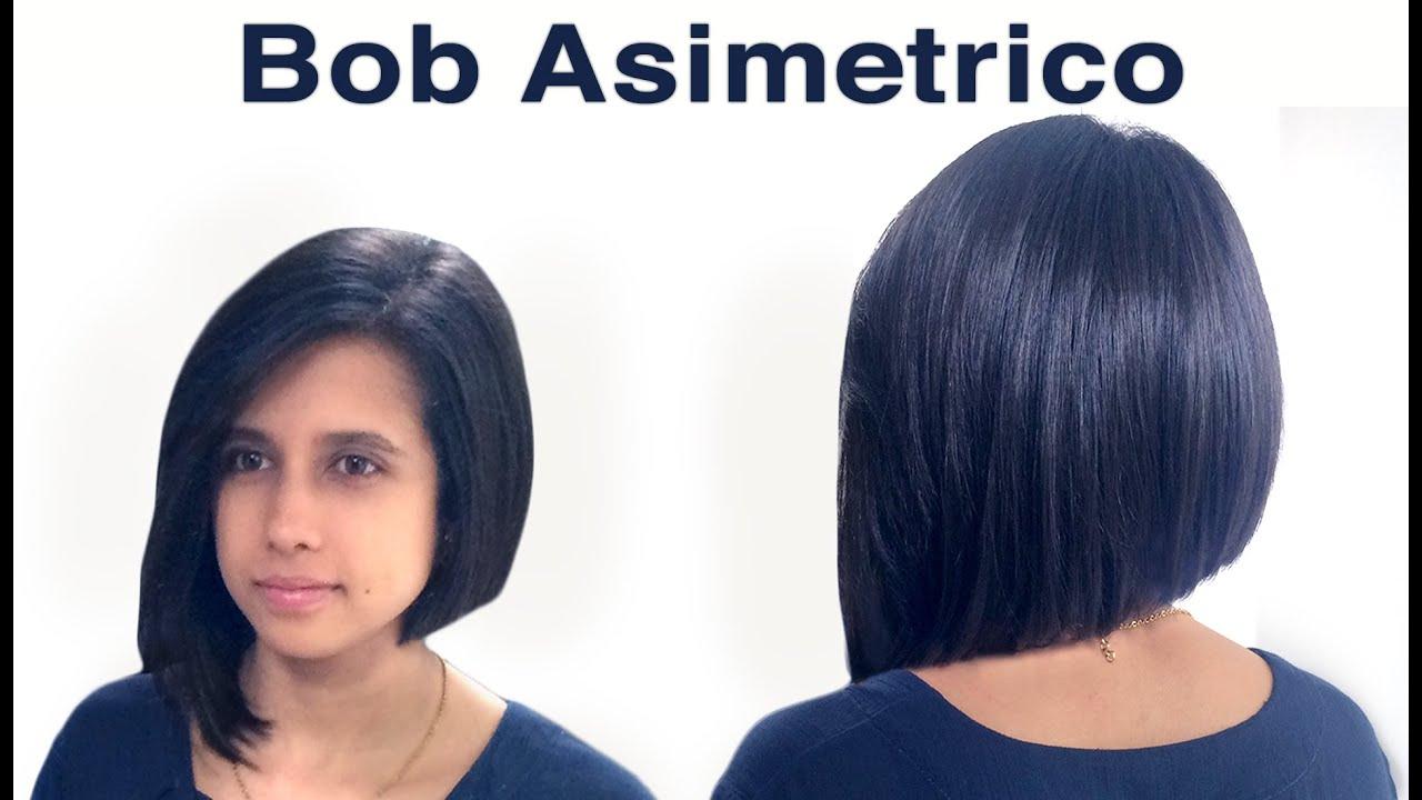Corte de pelo long bob asimetrico