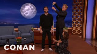Download Starlee Kine & Conan Crack The Mystery Of Jake Gyllenhaal's Height  - CONAN on TBS Mp3 and Videos