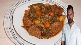 Live Your Myth With Greek Food : Beef And Green Bean Stew