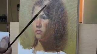 160 minutes oil portrait demo by Zimou Tan