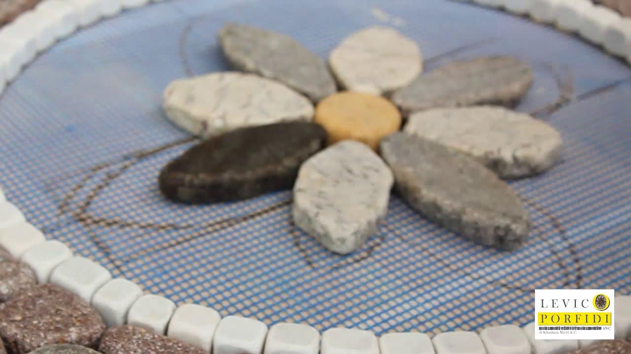 Piastrelle Decorative Per Tavoli realizzazione di un rosone decorativo in pietra