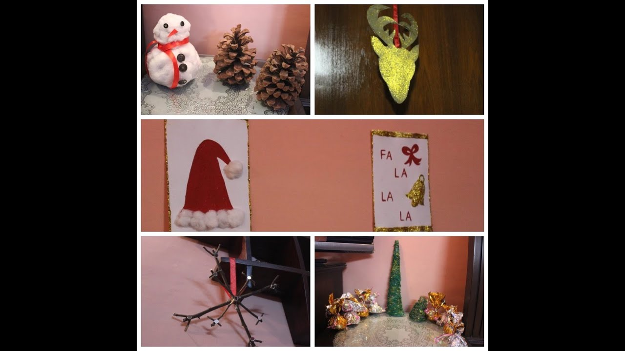last minute diy ideas cute easy affordable christmas decoration youtube