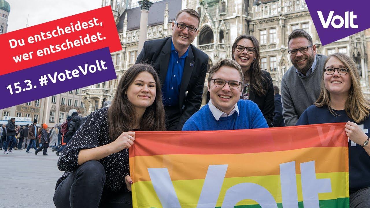 YouTube: Volt München Wahlspot Kommunalwahlen 2020 I Zukunft. Made in Europe I #VoteVolt