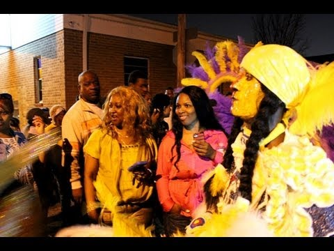 **MUST SEE** Mardi Gras Indian Showdown Late Night in New Orleans (3/20/13)