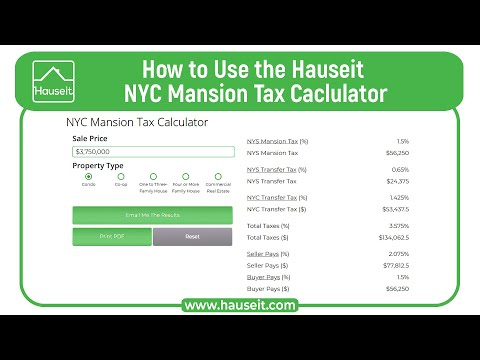 NYC Mansion Tax Calculator for Buyers - Updated for 2019