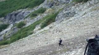 descendiendo al Cajón Negro, desde el Co. Inacayal (más bien Belvedere)