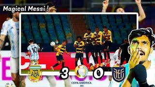 Argentina vs Ecuador 3-0 MATCH REVIEW HINDI | MAGICAL MESSI