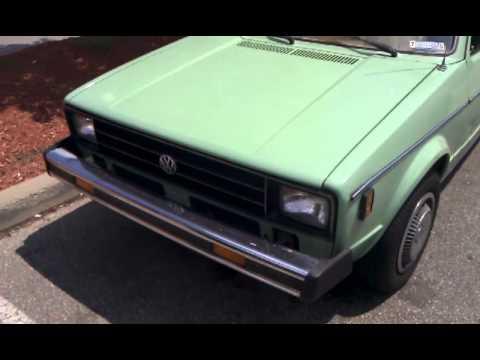 Vintage Snot Green Volkswagen Rabbit