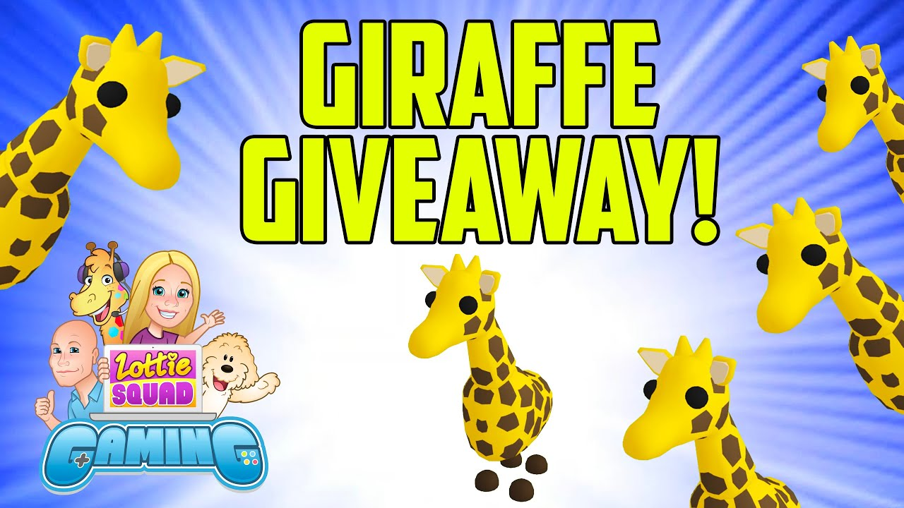 Giraffe Giveaway Roblox Adopt Me Win Free Pets And Robux Youtube
