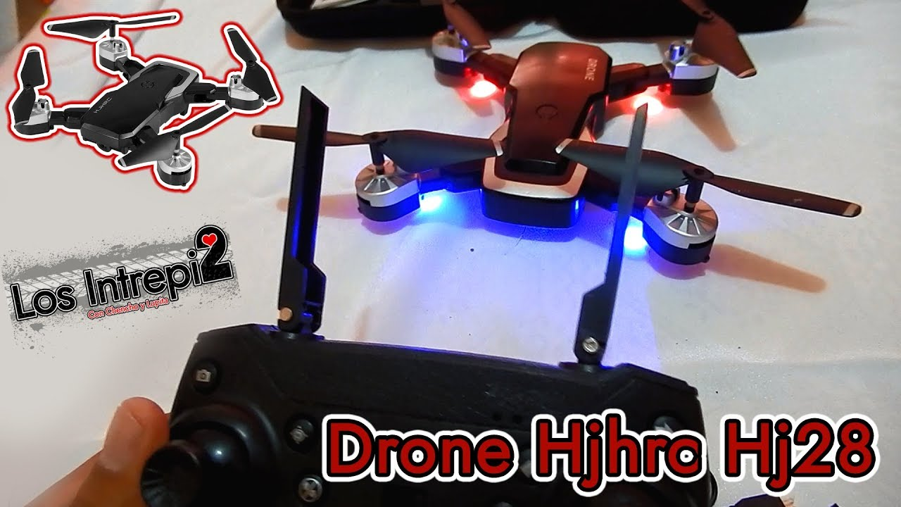 Drone Hjhrc Hj28 RC Unboxing Test y reseña 40€ $50 dolares (drone