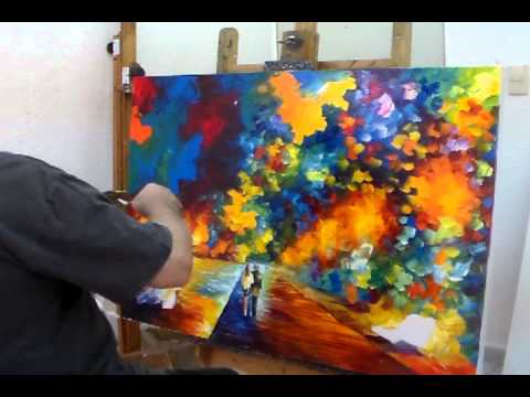 Leonid Afremov Painting A Recreation Of When Dreams Come True Part 7    YouTube
