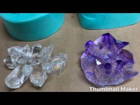 How to make Amazing Crystals from resin where to get molds