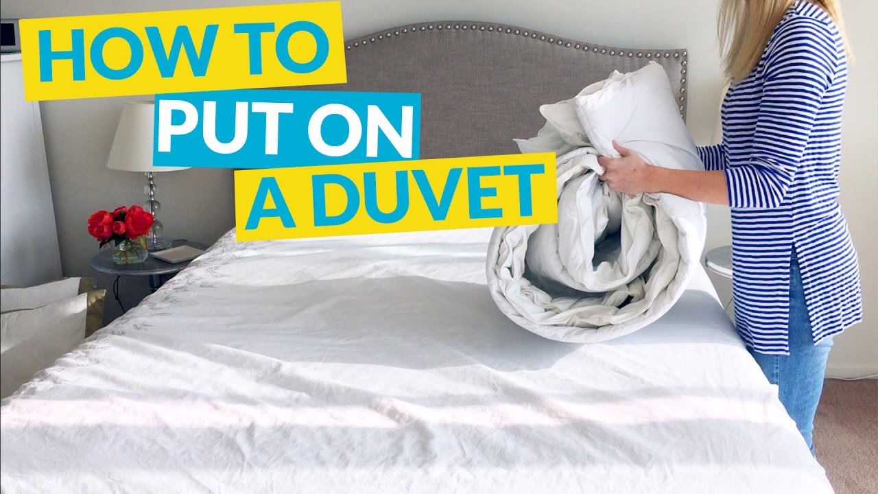 how to put on a duvet cover youtube. Black Bedroom Furniture Sets. Home Design Ideas