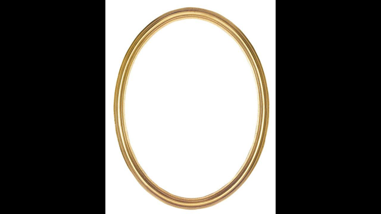 how to make a circle frame - YouTube