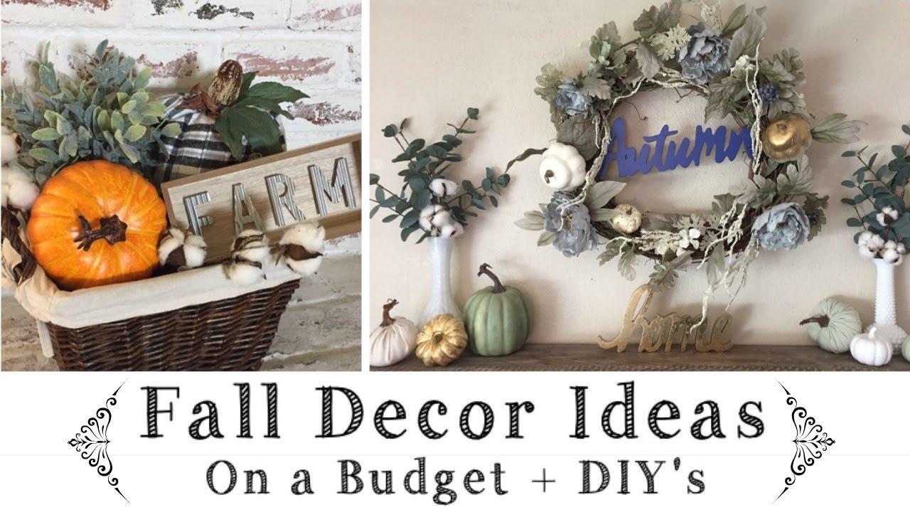 Fall Decor Ideas On A Budget \ Dollar Tree, Target $1 Spot