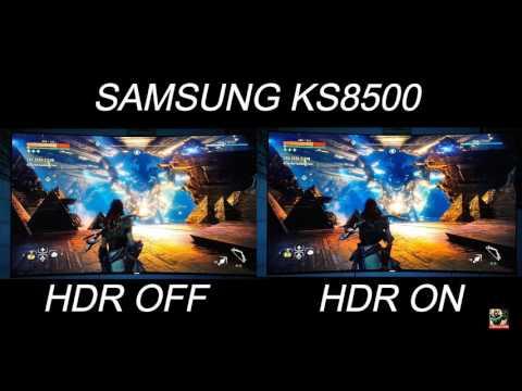 Horizon zero dawn HDR vs SDR comparison on PS4 pro on a Samsung KS8500