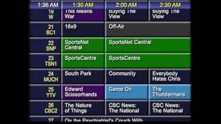Analog TV Program Listings