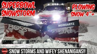 """Plowing Snow During The Big Game + Snow Plowing Footage 