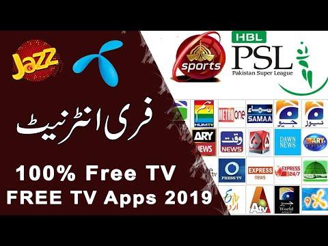 Jazz Telenor Free Tv Application Psl Free Channel Youtube